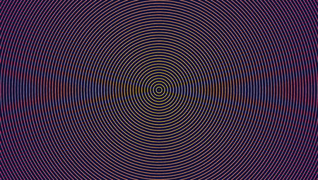 Circular spiral on dark background illustration.