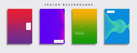 Vector background designs set template