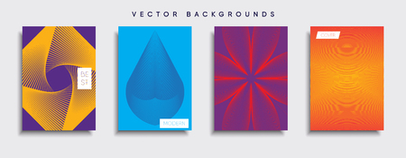 Vector background designs set template