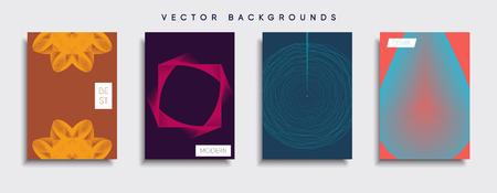 Smartphone modern background set vector illustration template