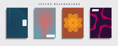 Smartphone modern background set vector illustration template