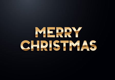 Holiday letters with gold effects. High quality vector illustration