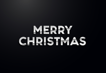 Holiday letters with silver effects. High quality vector illustration Illusztráció