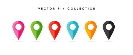 Location pin. Map pin flat icon vector design. 向量圖像