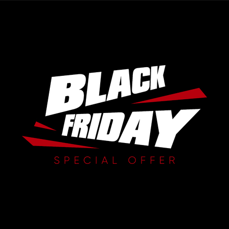 Black Friday sale vector illustration 向量圖像