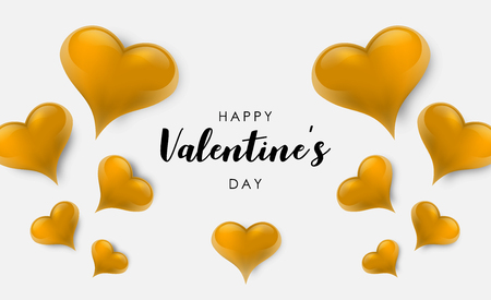 Blank background decorated with hearts. Vector illustration