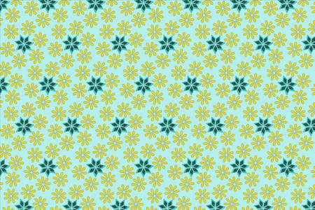 Seamless pattern of floral Ilustracja