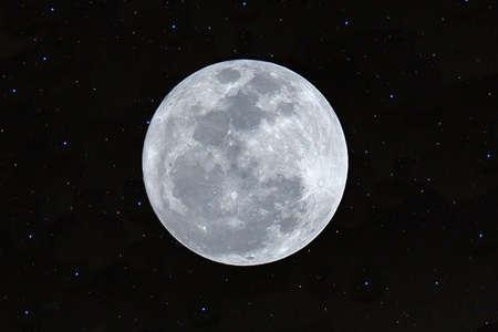 Full moon on the sky in the dark night. Stock fotó