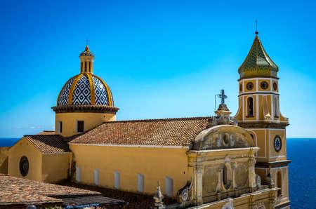 San Gennaro church with rounded roof in Vettica Maggiore Praiano, Italy