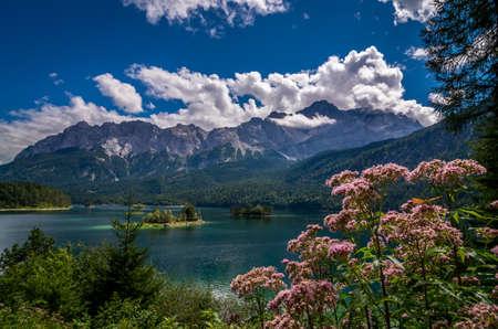 Eibsee Garmisch-Partenkirchen - View to Lake Eib, Bavaria, Germany