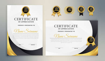 Black Gold Elegant Certificate