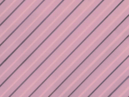 Pink corrugated surface from diagonal straight grooves. Straight lines diagonally cross pink background