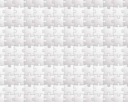 Puzzles background in black and white Stock Photo