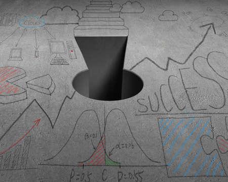 key hole: Key shape hole with doodles on concrete structure