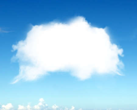 copy sapce: White cloud with nature blue sky background
