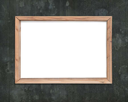 Blank White Board With Wooden Frame, On Old Dirty Wood Wall ...