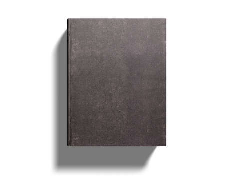 Dark old book, isolated on white background, 3D illustration.