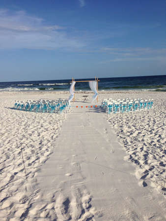 A beach wedding   Stock Photo - 21627946
