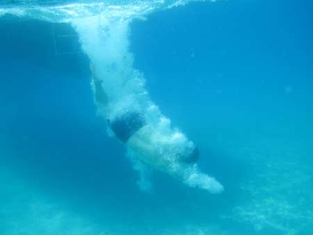 photo taken under water Stock Photo