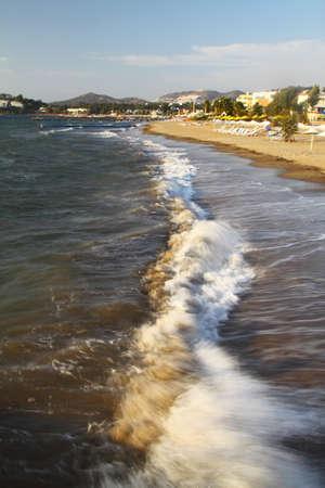 Background sea, ocean. Ride the waves in the ocean.