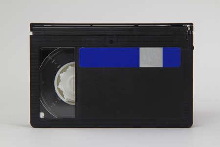 Mini DV cassette isolated on white