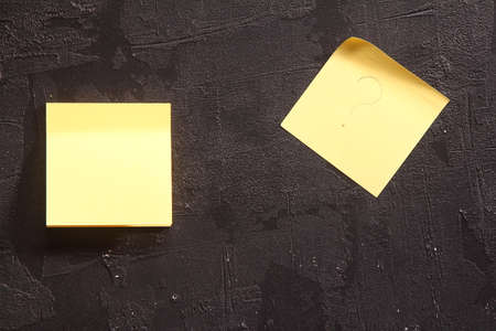 yellow sticky note on wall Stock fotó