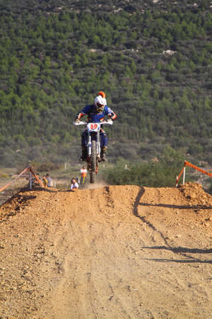 Bodrum, Turkey, 07 November 2015: The 6. leg races  of Turkey Enduro Championship has been made by the organization of Turkey Motorcycle Federation. Foto de archivo - 161467616