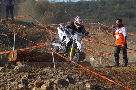 Bodrum, Turkey, 07 November 2015: The 6. leg races  of Turkey Enduro Championship has been made by the organization of Turkey Motorcycle Federation. Foto de archivo - 161467631