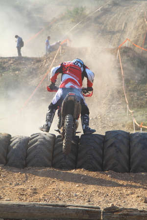 Bodrum, Turkey, 07 November 2015: The 6. leg races  of Turkey Enduro Championship has been made by the organization of Turkey Motorcycle Federation. Foto de archivo - 161467639