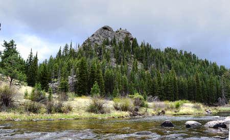 Colorado mountain and stream landscape Imagens