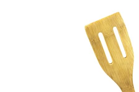 wooden utensil, isolated,high key, room for text Imagens