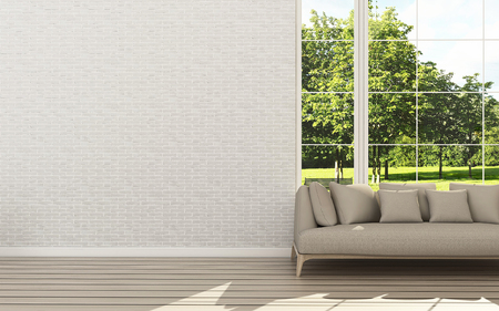 Relax space with background. Living room interior. relax space. -3d rendering Stock Photo