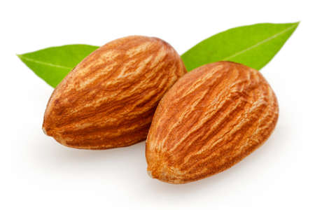 Almonds nut isolated on a white background