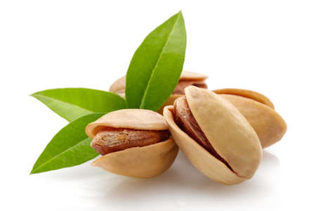 Pistachios nut isolated on a white background