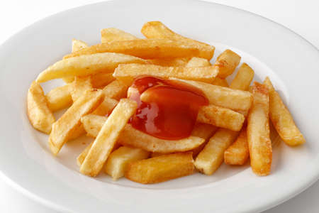 French fries with ketchup Reklamní fotografie