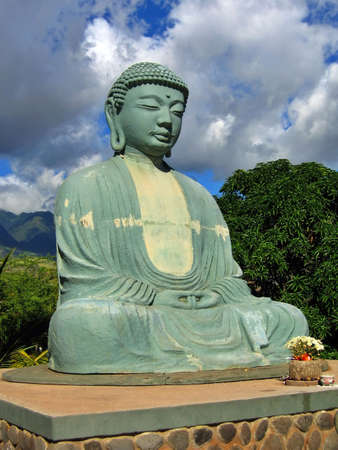 budha: Giant Budha Statue against a Beautiful Sky