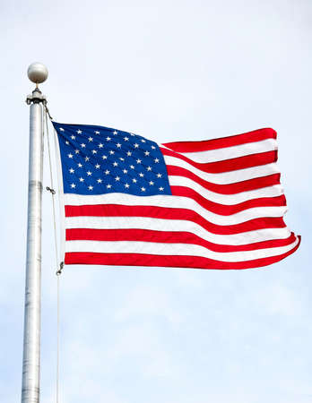 United States of America Flag Waving in the wind photo