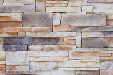 Wall texture from different sized and formed stones