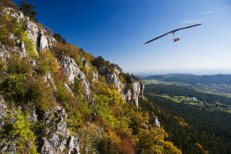 Glider flight near the mountain Stock Photo - 10030315
