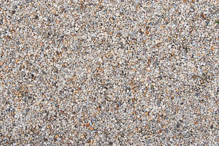 Gravel in the park sidewall Stock Photo