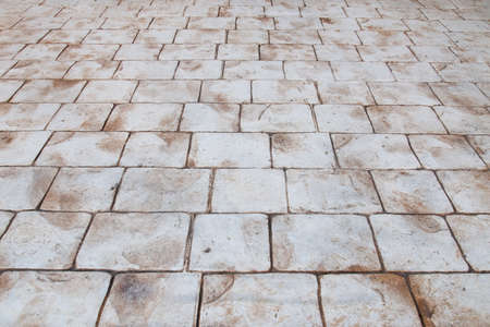 Stone sidewalk texture with perspective Stock Photo