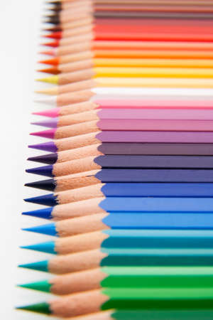 Assortment of colored pencils with small depth of field Stock Photo - 13129524