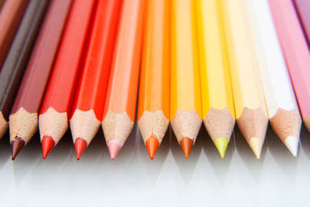 Macro photo from colored pencils