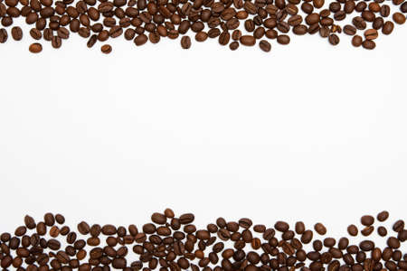 Coffee beans frame background