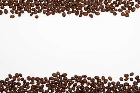 grano de cafe: Los granos de caf� de fondo el marco