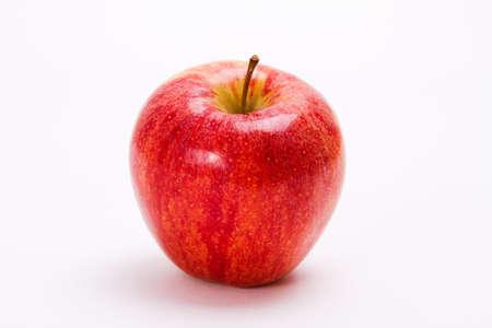 Appetizing apple isolated on white background.