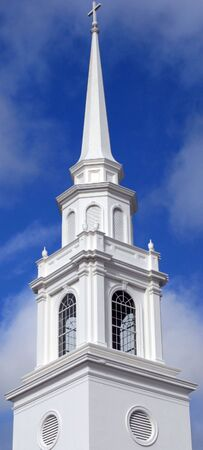 Elaborate Church Steeple   Stock Photo