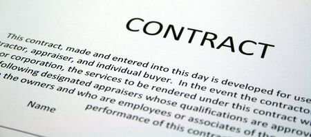 Real Estate Contract photo