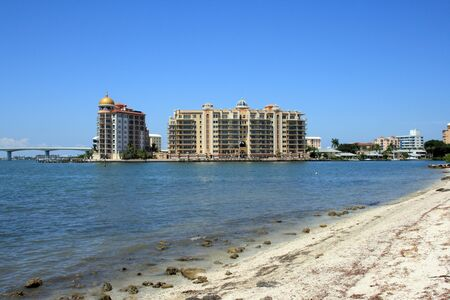 Luxury resort and condos on Sarasota Bay.