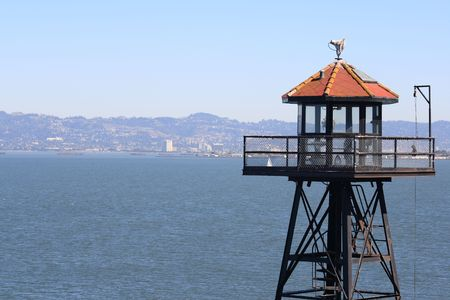 View of San Francisco from Alcatraz Guard Tower.
